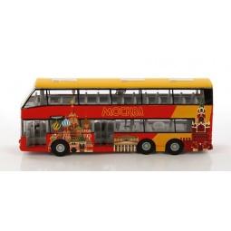 фото Модель 2-этажного автобуса Пламенный Мотор «Экскурсии по Москве»