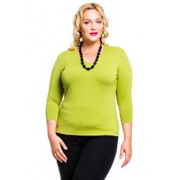 фото Кофта Mondigo XXL 052. Цвет: зеленый. Размер одежды: 56