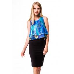 фото Блузка Mondigo 5105. Цвет: бирюзовый. Размер одежды: 48