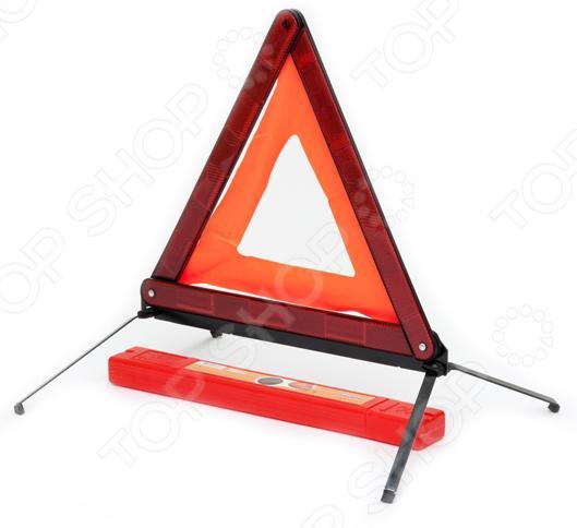 Знак аварийный Airline AT-03Аптечки. Аварийные наборы. Знаки<br>Знак аварийный Airline AT-03 специальный атрибут для обозначения аварийной зоны. Установка этого знака повысит вашу безопасность на дороге, а так же других участников движения. Знак с металлическим основанием очень компактен, имеет складывающуюся конструкцию. Основание дополнительно утяжелено железной вставкой, что предотвращает сдувание треугольника сильным ветром. Помещается в пенал для транспортировки и хранения. Довольно популярен среди автолюбителей на российском рынке.<br>
