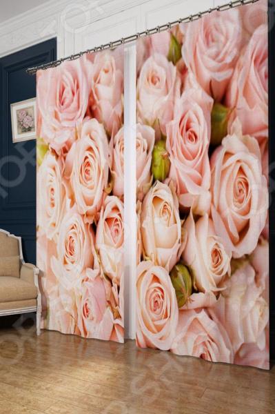 Фотошторы блэкаут Сирень «Молодые розы»Фотошторы<br>Окно в комнате может считаться её символическим центром, поэтому так важно выбрать подходящее для него художественное оформление, которое бы гармонично вписывалось в выбранный вами стиль интерьера. Правильно подобранные шторы способны преобразить вашу комнату, сделать её более светлой или уединенной, яркой или более спокойной, визуально больше или уютней. Фотошторы блэкаут Сирень Молодые розы это идеальный вариант для вашей спальни, гостиной или гостевой комнаты. Прочные, плотные и качественные изделия не только стильно оформят оконное пространство, но и позволят правильно расставить акценты в интерьере, скрыть небольшие недостатки в отделке. Особенность данной модели заключается в ярком цветочном рисунке, который поражает своей реалистичностью и четкостью. Это стало возможно благодаря использованию современных технологий фотопечати. Высококачественные краски не будут выгорать на солнце или терять своей насыщенности и глубины красок после многочисленных стирок. Другой особенностью этих штор материал, из которого они произведены. Блэкаут это плотная, прочная и удивительно износостойкая ткань. Она полностью светонепроницаемая, поэтому вы сможете легко регулировать степень освещенности в комнате. За счет особого плетения нитей формирует мягкие складки без заломов, легко драпируется и прекрасно держит форму. Это приятный на ощупь материал прост в уходе, устойчив к загрязнениям и хорошо сохраняет тепло. Изделия рекомендуется при температуре 30 С в режиме бережной стирки и гладить при 150 С в режиме шелк . Не следует использовать отбеливающие средства. Шторы крепятся на шторную ленту под крючки.<br>