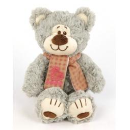 фото Мягкая игрушка Fluffy Family «Мишка Митя с шарфом». Размер: 20 см. Цвет: серый