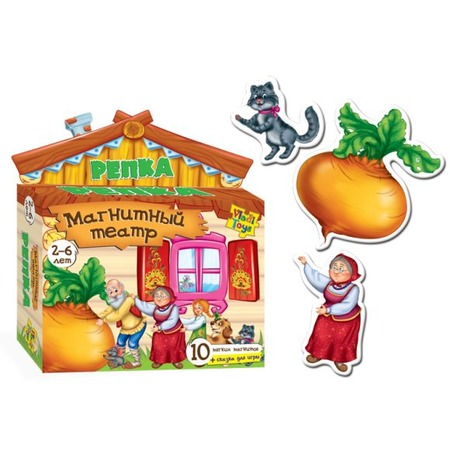 Купить Игра развивающая на магнитах Vladi Toys «Магнитный театр. Репка»