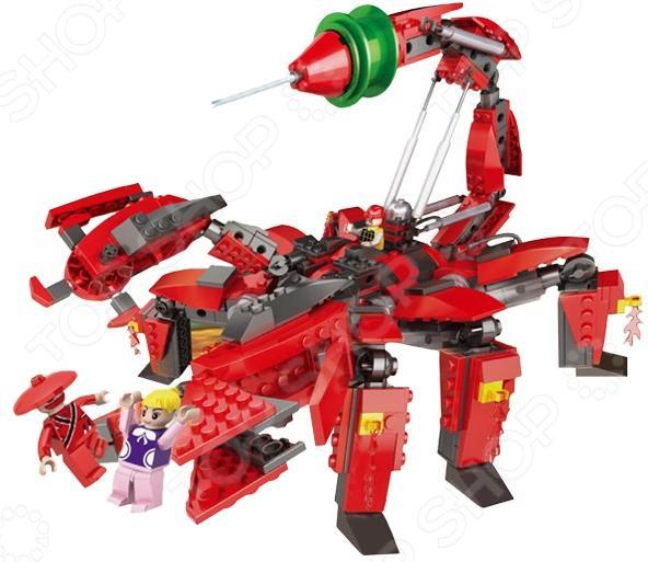 Конструктор игровой 1 Toy «Робосамураи. Робот-скорпион»Космолеты. Роботы. Трансформеры<br>Конструктор игровой 1 Toy Робосамураи. Робот-скорпион обязательно понравится вашему ребенку. Конструктор для ребенка это один из основных способов развития и познания. А еще готовая модель в собранном виде будет отличной готовой игрушкой для сюжетно-ролевых игр. В процессе игры с конструктором ребенок развивает воображение, пространственное и образное мышление, мелкую моторику рук и чувство равновесия. В комплект входят 516 деталей для сборки робота-скорпиона и три фигурки.<br>