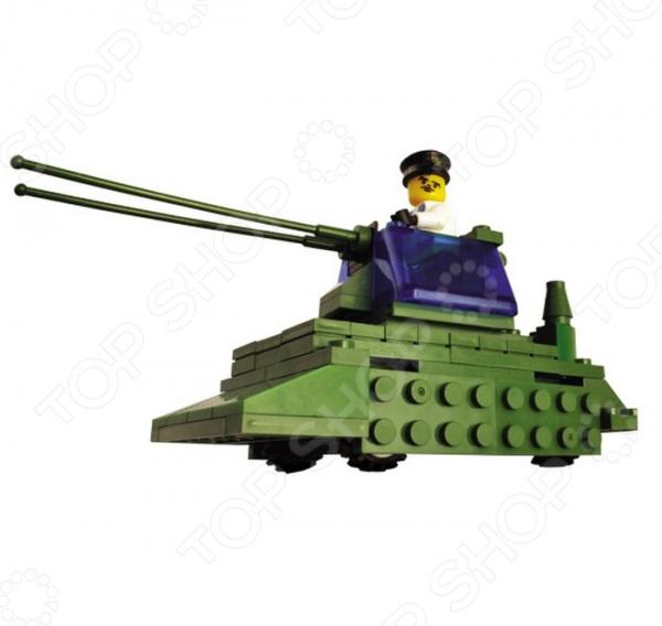 Игровой конструктор SuperBlock «Военные маневры. Танк»Военная техника. Корабли<br>Игровой конструктор SuperBlock Военные маневры. Танк занимательная и развивающая игрушка. Помимо того, что ребенок весело будет проводить свободное время, он сможет развить некоторые свои навыки и узнать много нового. Благодаря конструктору, ваш малыш познакомиться с основами построения различных моделей. Сама конструкция выполнена из экологически чистого пластика и абсолютно безопасна для ребенка. Конструктор собирается в модель боевого танка из 103 деталей. При желании, вы можете помочь ребенку на начальном этапе знакомства с методом сборки. Также, в наборе есть подробная инструкция, с помощью которой дети легко смогут собрать игрушечную военную технику. Стоит также обратить внимание на то, что детали набора совместимы с конструкторами других марок, в том числе и со всем известным Lego. Приобретая конструктор вы приобретаете целый мир для развития фантазии и мелкой моторики! Продукт рекомендуется для игры детям от шести лет и старше. В наборе содержится очень много мелких деталей, которые дети помладше могут проглотить. Ваш ребенок, мальчик или девочка, с энтузиазмом примут нового друга в свои игры.<br>