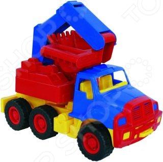 Экскаватор игрушечный Нордпласт «Мишка»Машинки<br>Экскаватор игрушечный Нордпласт Мишка - яркая и качественная игрушка, которая обязательно понравится вашему ребенку. Модель имеет ковш с помощью которого ребенок может зачерпывать и высыпать песок или мелкие камешки. Игра с подобными машинками познакомит малыша с различной спецтехникой и ее предназначением. Яркая расцветка и интересная форма игрушки привлекают малыша, стимулируя его интерес к играм. Модель выполнена из качественного и безопасного пластика.<br>