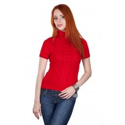фото Свитер вязаный Mondigo 9004. Цвет: красный. Размер одежды: 42