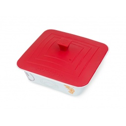 фото Форма для выпечки квадратная с крышкой Oursson. Цвет: красный