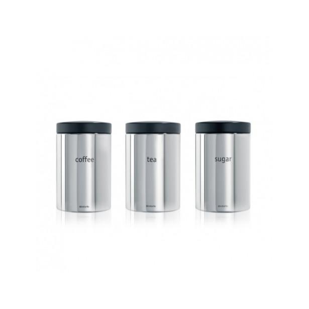 фото Набор контейнеров для сыпучих продуктов Brabantia. Цвет: серый металлик
