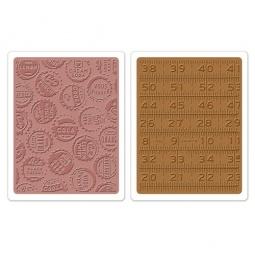 фото Набор форм для эмбоссирования Sizzix Textured Impressions Крышечки и линейки