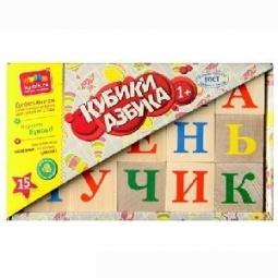 фото Кубики обучающие Alatoys «Азбука» КБА1500