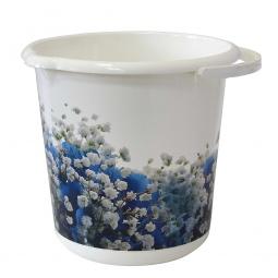 фото Ведро IDEA «Деко. Голубые цветы». Объем: 10 л