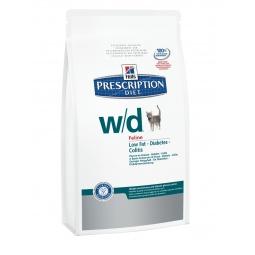 фото Корм сухой диетический для кошек Hill's W/D Prescription Diet Feline Low Fat