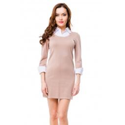 фото Платье Mondigo 9741. Цвет: карамельный. Размер одежды: 44