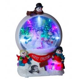 фото Музыкальный шар с подсветкой Star Trading 680-74 «Снеговики»
