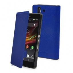 фото Чехол Muvit Slim Folio Python для Sony Xperia Z. Цвет: синий