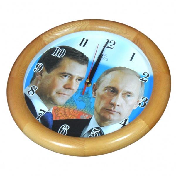 Часы настенные Вега «Путин и Медведев» Вега - артикул: 514593