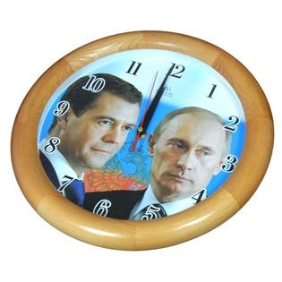 Купить Часы настенные Вега «Путин и Медведев»