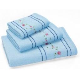 фото Полотенце махровое Любимый дом «Маргаритки». Размер полотенца: 90х50 см. Цвет: голубой