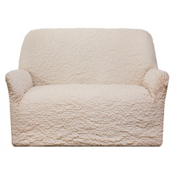 Натяжной чехол на двухместный диван «Модерн. Шампань»