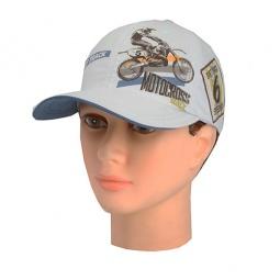 Купить Бейсболка для мальчиков Shapochka Motocross. Цвет: светло-серый