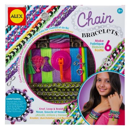 Купить Набор для создания браслетов Alex «Цепочки и пряжа»