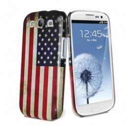 фото Чехол и пленка на экран Muvit Old Flag Cover USA для Samsung S3 i9300