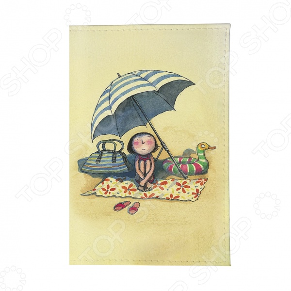 Визитница Mitya Veselkov «Девочка на пляже» jp 45 7 фигурка девочка на пляже pavone
