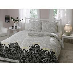 фото Комплект постельного белья TAC Sasha. Семейный. Цвет: серый