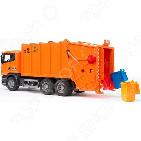 Мусоровоз игрушечный Bruder Scania машины bruder лесовоз scania с портативным краном и брёвнами
