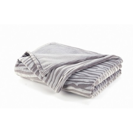 Фото Плед Dormeo Zebra. Размер: 150х200 см. Цвет: серый