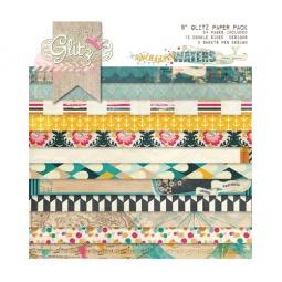 фото Набор бумаги Glitz Design Uncharted waters. Количество листов: 24. Размер: 20х20 см