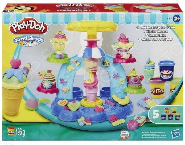 Набор игровой для лепки Play-Doh «Фабрика мороженого»Лепка из пластилина<br>Набор игровой для лепки Play-Doh Фабрика мороженого - отличный игровой набор, который понравится как девочкам, так и мальчикам. С такой мини-фабрикой, ваши дети смогут создавать самостоятельно самое популярное в мире лакомство - мороженное. С набором дети смогут готовить мороженное в вафельном стаканчике или креманках, а при помощи украшений делая из обычного мороженого настоящую мечту юного сластены! В процессе игры у ребенка развивается воображение, цветовосприятие и мелкая моторика.<br>