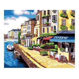 Купить Набор для рисования по номерам «Белоснежка» Солнечная набережная
