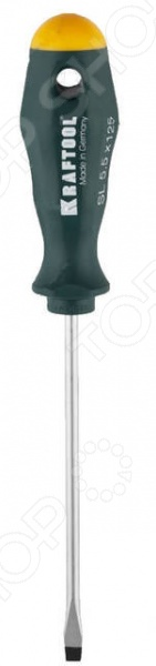 Отвертка шлицевая Kraftool Pro отвертка kraftool 25550 h10