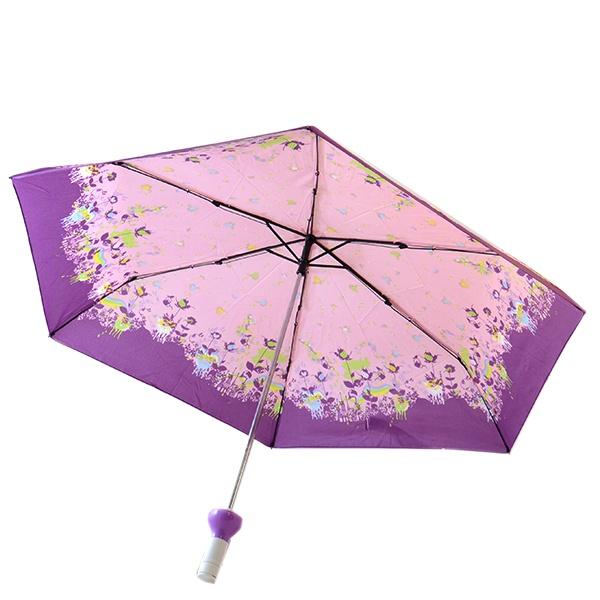 «Ситцевый узор. Цвет: фиолетовый, розовый» Зонт Ofess «Ситцевый узор» 01722