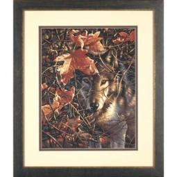 Купить Набор для рисования по номерам Dimensions «Волк в осеннем лесу»