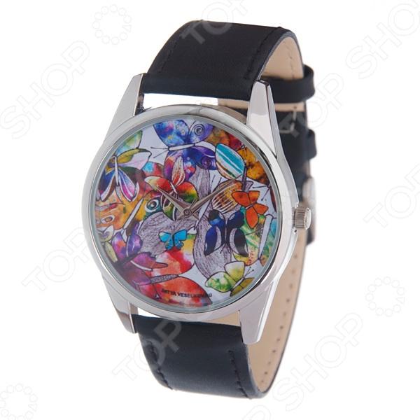 Часы наручные Mitya Veselkov «Акварельные бабочки» MV часы наручные mitya veselkov часы mitya veselkov одри на белом курит арт mv 38