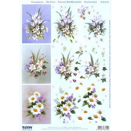 Купить Аппликация вырубная для объемных рисунков Reddy Creative Cards «Весенние цветы»