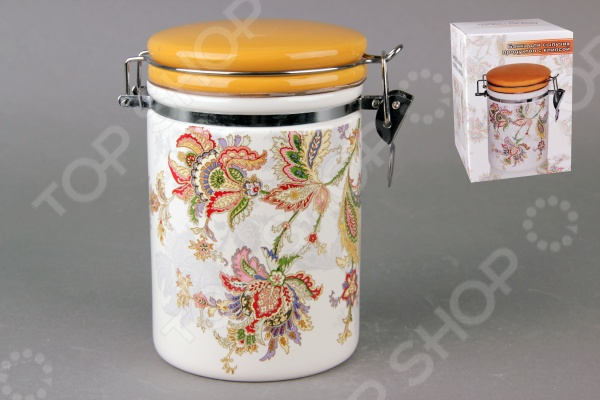 фото Банка для хранения сыпучих продуктов Коралл HC8600B-F60 «Марокканский цветок», Хранение продуктов