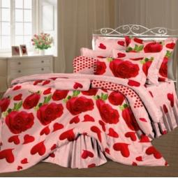 фото Комплект постельного белья Романтика «Счастье любви» 314923. 1,5-спальный