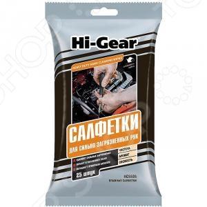 Набор салфеток для сильно загрязненных рук Hi Gear HG 5585 набор салфеток для сильно загрязненных рук hi gear hg 5585