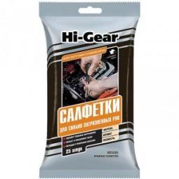 Купить Набор салфеток для сильно загрязненных рук Hi Gear HG 5585