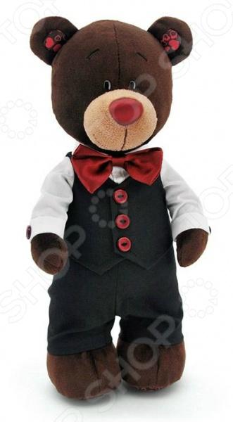 Мягкая игрушка Orange Choco «Медведь-жених»Мягкие игрушки<br>Мягкая игрушка Orange Choco Медведь-жених это замечательный подарок для вашего малыша! Забавный зверек, одетый в нарядный костюм, украсит любую детскую комнату и принесет радость и веселье во время игр. Игрушка изготовлена из плюша, а фурнитура выполнена из пластика. Набивкой служит полиэфирное волокно. Все материалы абсолютно безвредны для здоровья ребенка. Мех не выгорает на солнце и невероятно мягок. Orange Choco Медведь-жених поможет развить воображение, тактильные навыки, зрительную координацию и мелкую моторику рук. Кроме того, тренируется наблюдательность, образное восприятие и логическое мышление.<br>