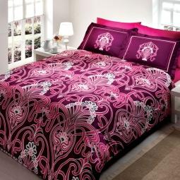 фото Комплект постельного белья TAC Torium. 1,5-спальный. Цвет: розовый