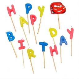 Купить Свечи-буквы Procos «Тачки Happy Birthday»