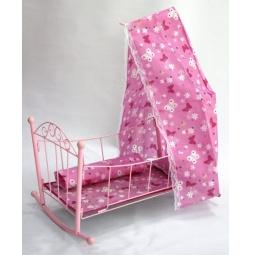 фото Кроватка для кукол Shantou Gepai с балдахином 43699
