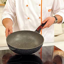 Сковорода вок Delimano Stone Expert
