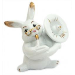 Купить Фигурка декоративная Elan Gallery Зайка белый трубач