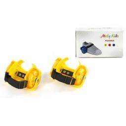 фото Коньки роликовые Moby Kids двухколесные. Цвет: желтый